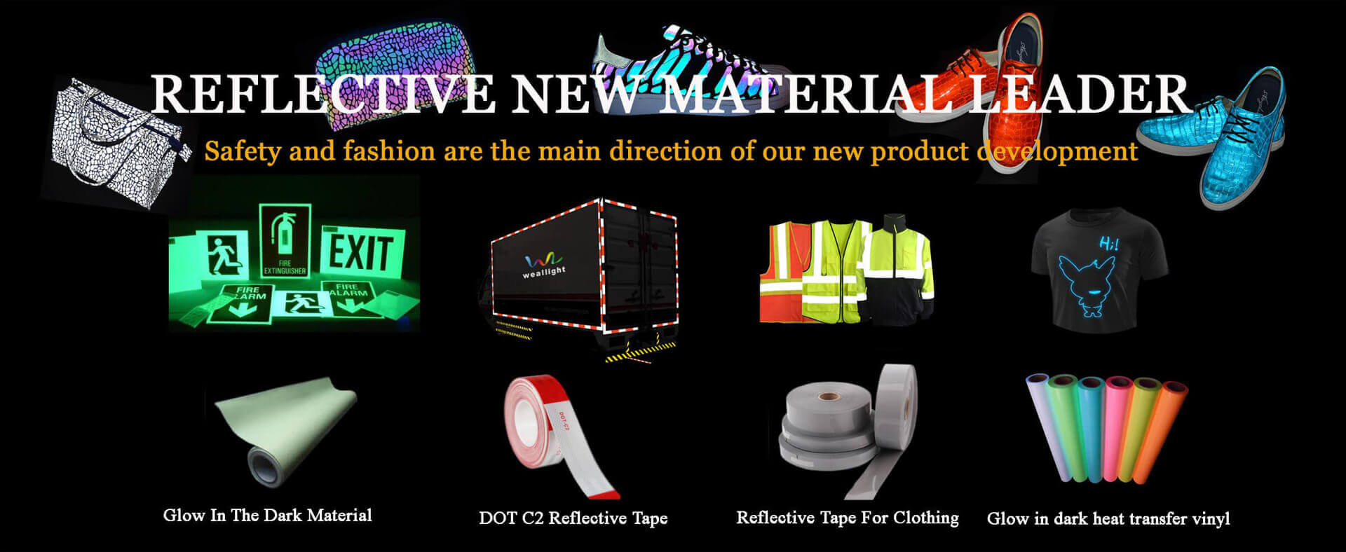 Luminous/ Reflective Tape Manufacturer (Heat Transfer Vinyl) | Weallight