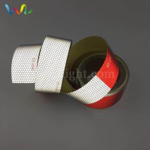 PET Red and White DOT C2 Reflective Tape