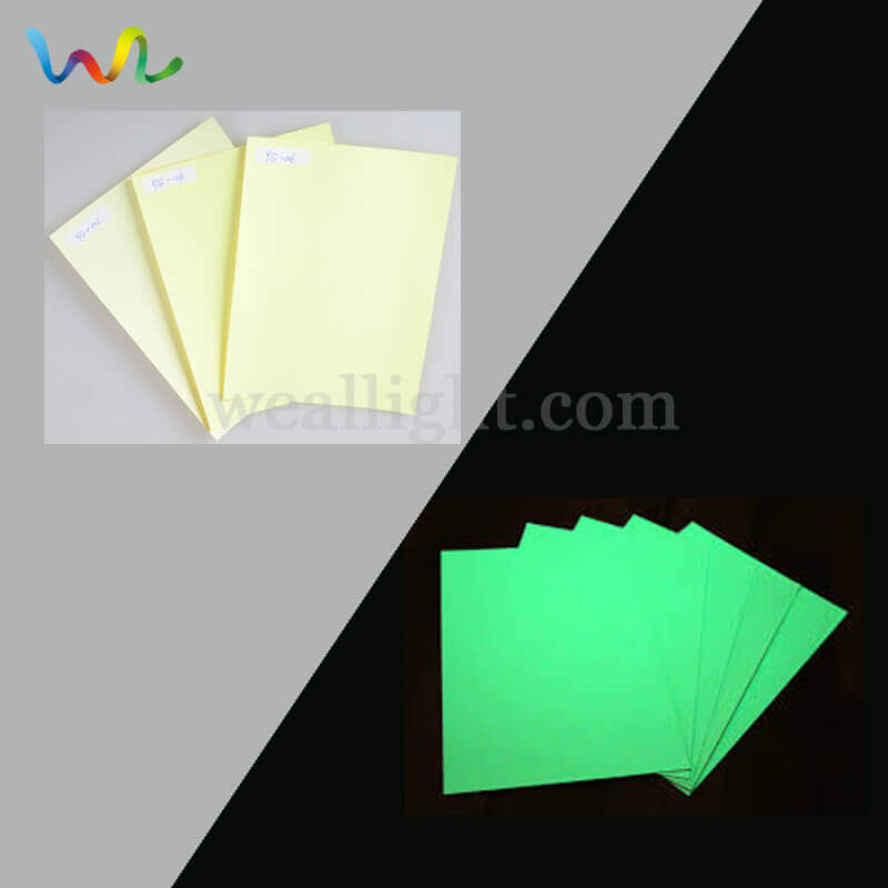 Glow In The Dark Sticker Paper