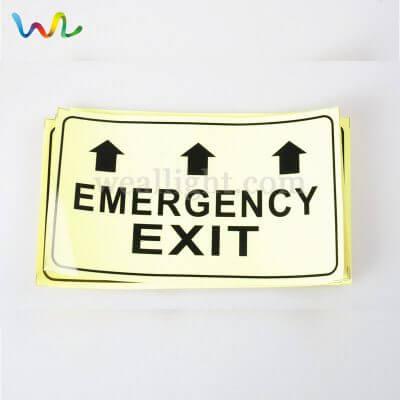 emergency evacuation signs