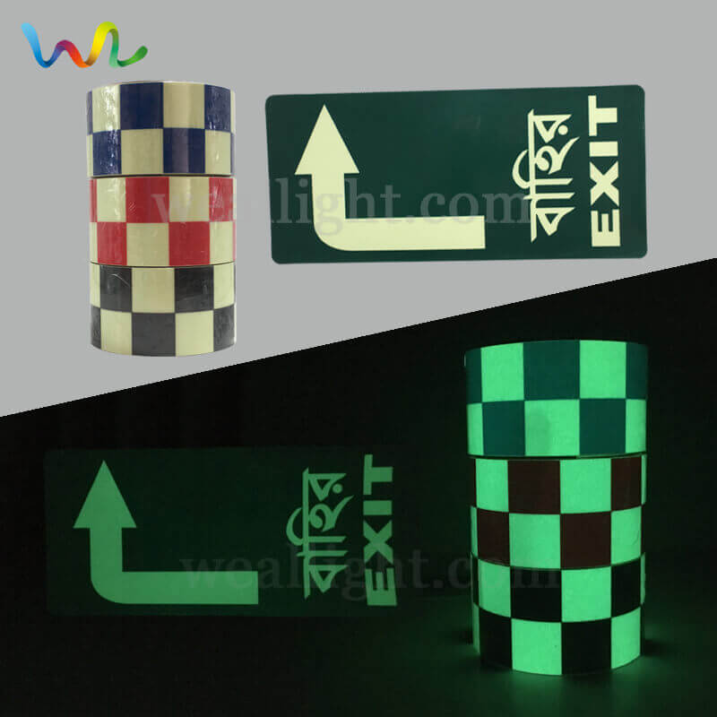 Phosphorescent Exit Signs