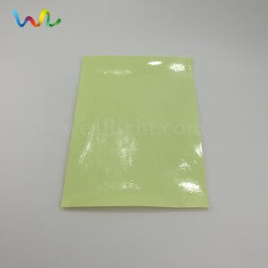 yellow-green photoluminescent paper