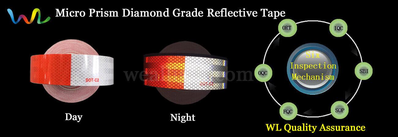 Micro prism diamond grade reflective tape vinyl suppliers weallignt diamond grade reflective tape micro prism super grade reflective tape aloadofball Choice Image