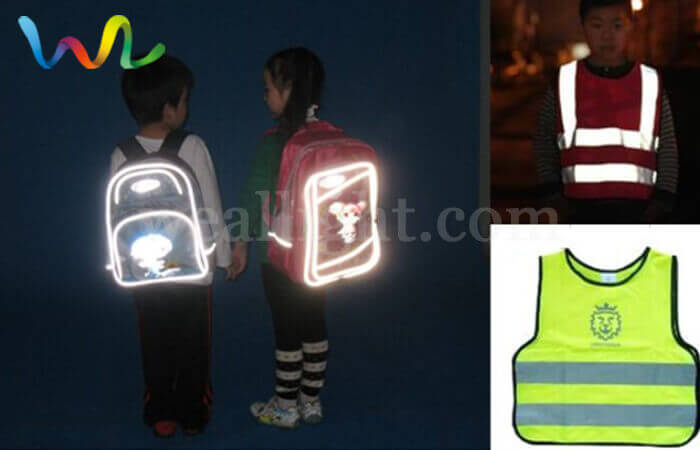 Reflective backpack for children
