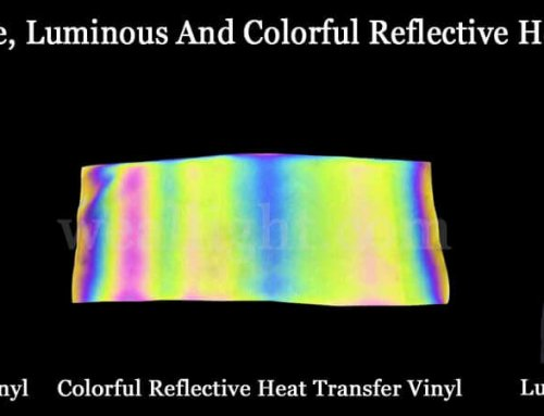 Reflective heat transfer material and luminous, colorful reflective materials