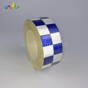 Blue and White Checkered Reflective Tape