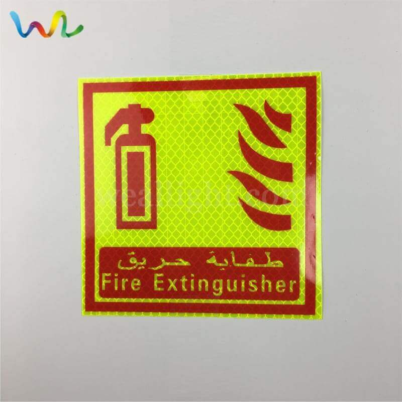 Reflective Fire Extinguisher Signs