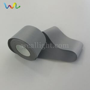 silver reflective fabric tape for clothing