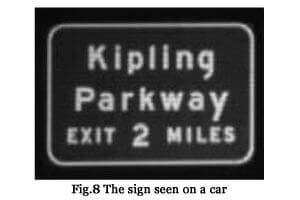 Fig. 8 The sign seen on a car