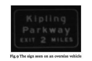 Fig. 9 The sign seen on an oversize vehicle