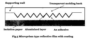 Microprism type reflective film with coating