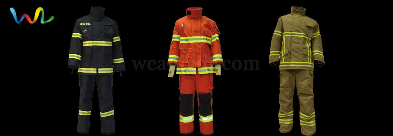 Firefighters clothes are made of which material
