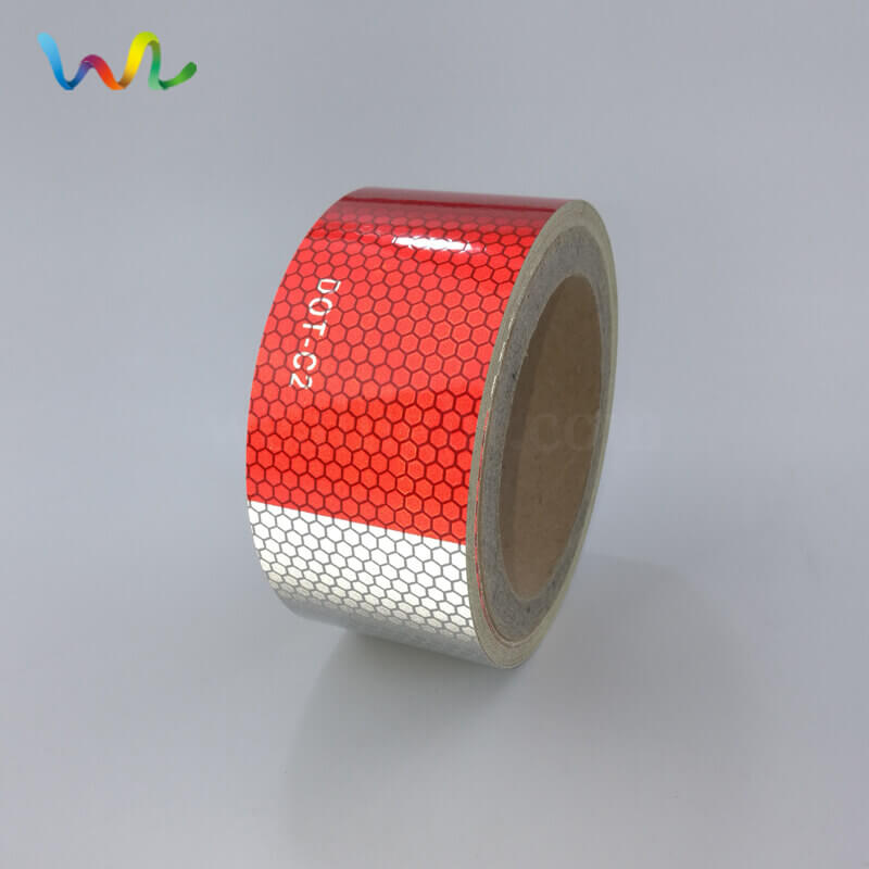 red and white dot c2 honeycomb reflective tape for vehicles