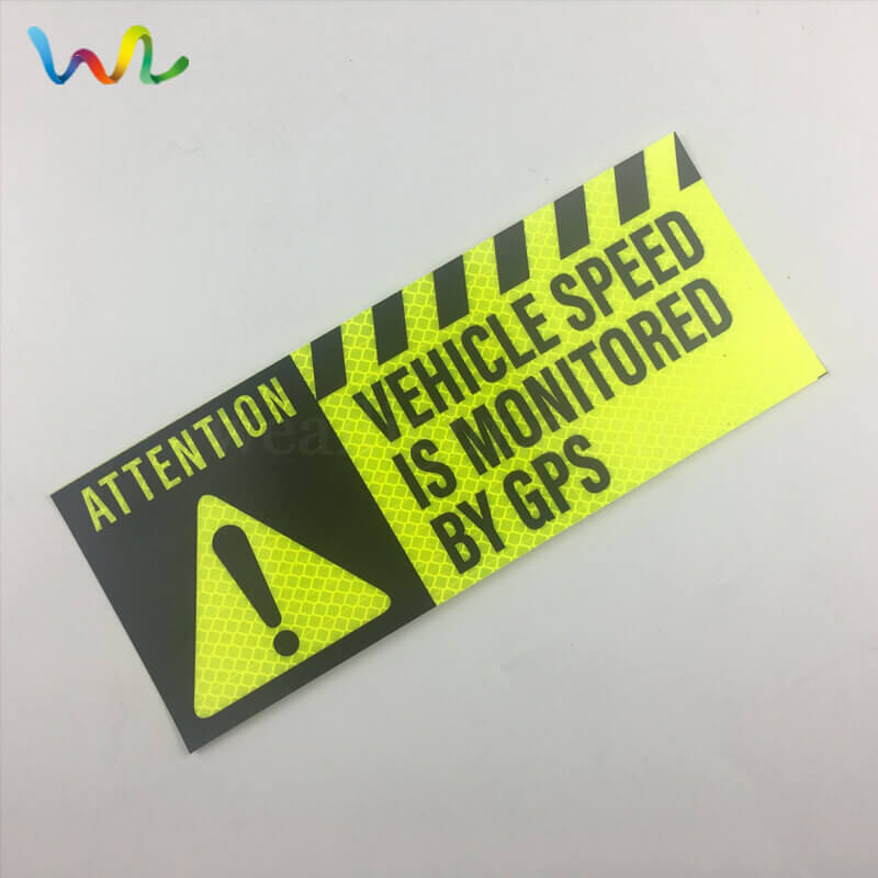 Custom Reflective Bumper Stickers Printing