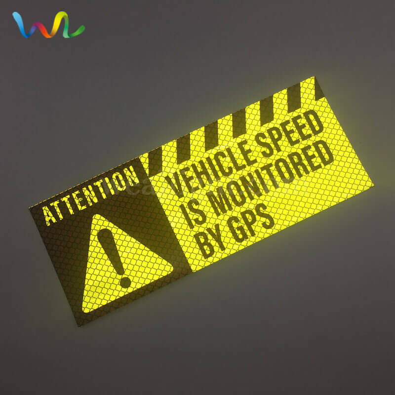 Custom Reflective Bumper Stickers