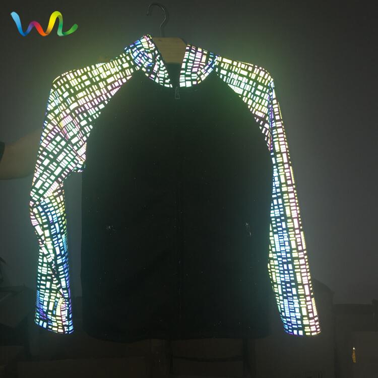 Iridescent Reflective Fabric Clothing