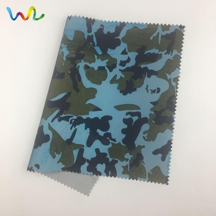 Reflective Fabric Camo Print