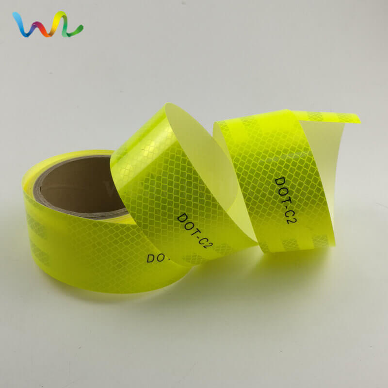 Fluorescent Yellow DOT Reflective Tape Wholesale