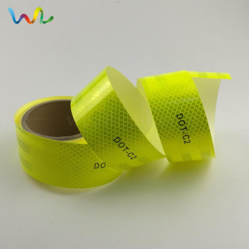 Fluorescent Yellow DOT Reflective Tape Wholesale