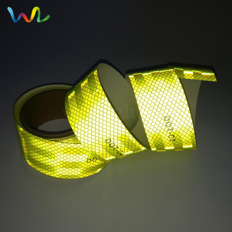 Fluorescent Yellow DOT Reflective Tape