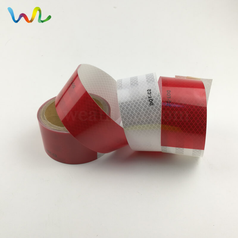 Red And White DOT Reflective Tape Factory
