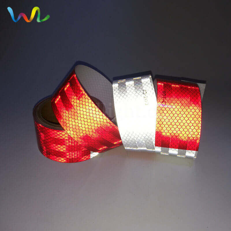 Red And White DOT Reflective Tape
