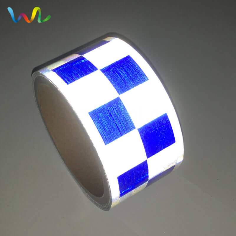 Blue White Reflective Tape For Clothing