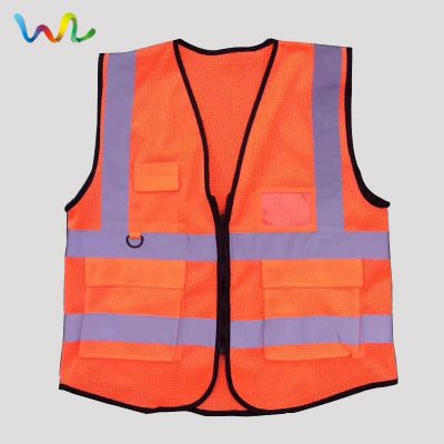 Red Mesh Safety Vest With Pockets Wholesale Supplier
