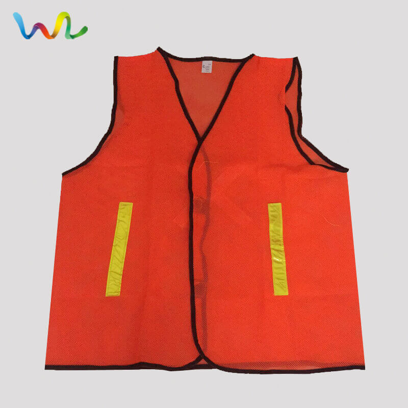 Safety Vest With Reflective Stripe