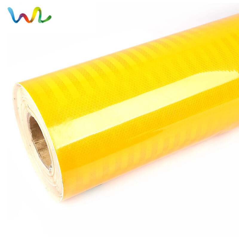 Lime Yellow Reflective Vinyl Roll - Neon Fluorescent Reflective Sheeting