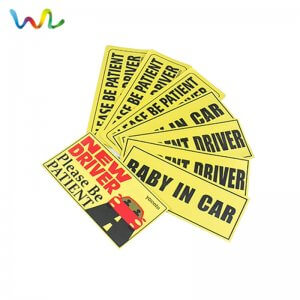 Custom Reflective Signage Stickers Decals